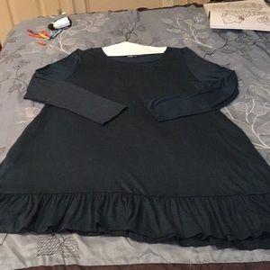 Dresses & Skirts - ANNABELLE HUNTER GREEN RUFFLE HEM DRESS NEVER WORE
